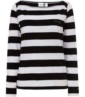O´Neill Lw Essential Striped L/SLV Tričko bieločierne