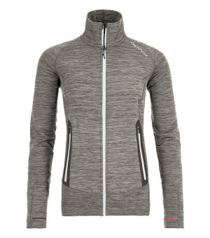 Ortovox Fleece Light Melange Jacket W grey blend mikina