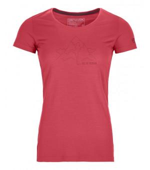 Ortovox 150 Cool Hug T-Shirt W hot coral tričko
