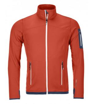 Ortovox Fleece Light Jacket M crazy orange mikina