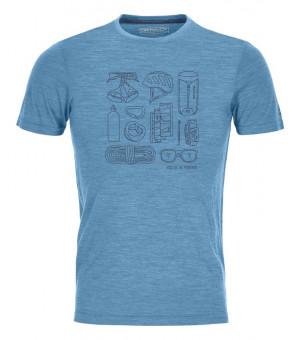 Ortovox 120 Cool Tec Puzzle T-Shirt M blue sea blend tričko