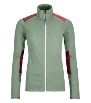 Ortovox Fleece Light Grid Jacket W green isar mikina