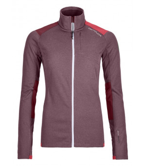 Ortovox Fleece Light Grid Jacket W dark wine mikina