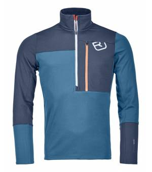 Ortovox Fleece Light Zip Neck M blue sea mikina