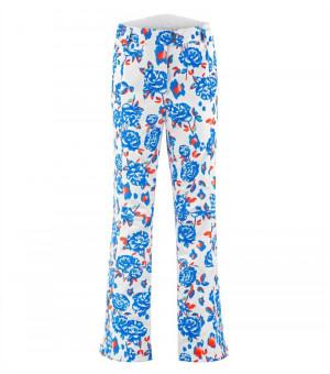 Poivre Blanc 0820 W Pants Blue flower nohavice