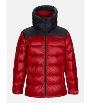 Peak Performance Frost Glacier M Down Hood Jacket Dark chilli bunda