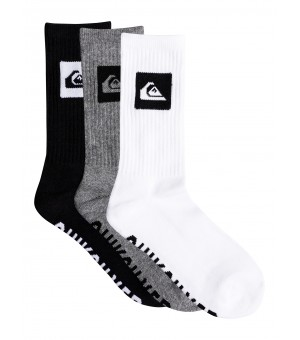 QUIKSILVER 3 PACK CREW YOUTH SOCK PONOŽKY