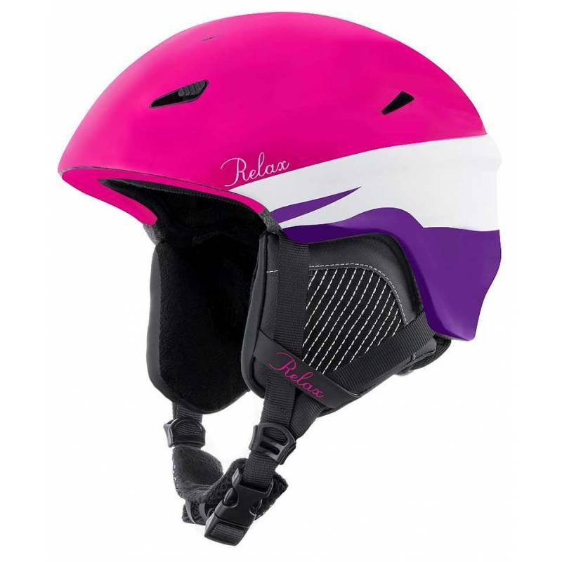 38a176bea Dámska lyžiarska prilba RELAX WILD 54-58 cm ružová – biela - fialová ...