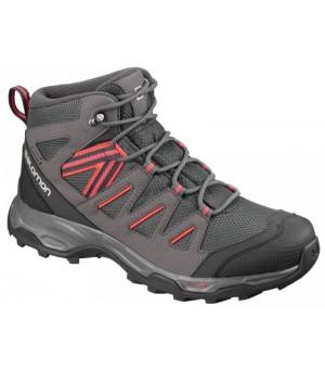 Salomon Hillrock Mid GTX W obuv sivá