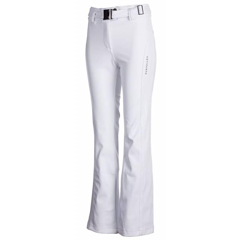ae6c5831cf Dámske biele softshellové lyžiarske nohavice SUN VALLEY SIUN
