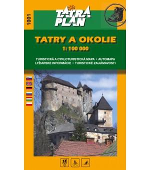 TM 1001 TATRY A OKOLIE 1:100 000 SLOV.
