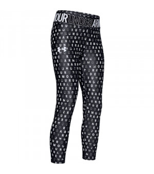 Under Armour Heatgear Printed Ankle Crop black/white legíny