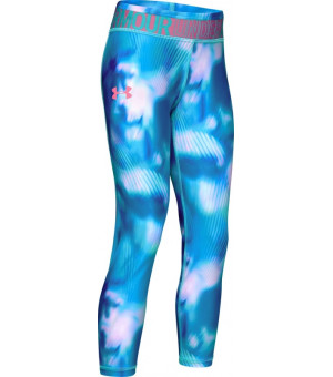 Under Armour Heatgear Printed Ankle Crop breathtaking blue legíny