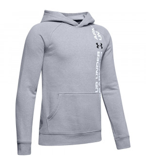 Under Armour Rival Woodmark Hoody mod gray/light heather mikina