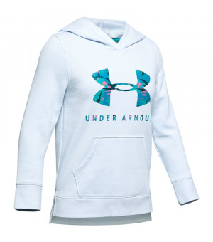 Under Armour Rival Print Fill Hoody moonstone blue mikina