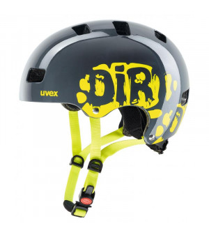 Uvex Kid 3 Dirtbike Grey-Lime prilba 2019