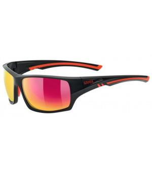 Uvex Sportstyle 222 POLA black red slnečné okuliare