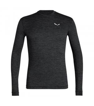 Salewa Puez Melange Dryton L/S M Tee black out melange tričko