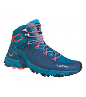 Salewa WS Alpenrose Ultra Mid GTX blue sapphire/fluo coral