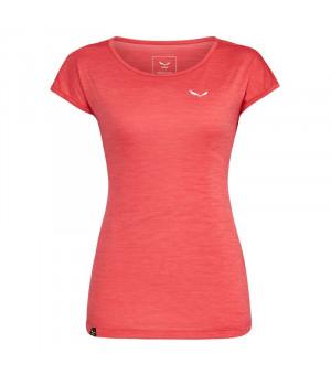 Salewa Puez Melange Dry W T-Shirt rose red melange tričko