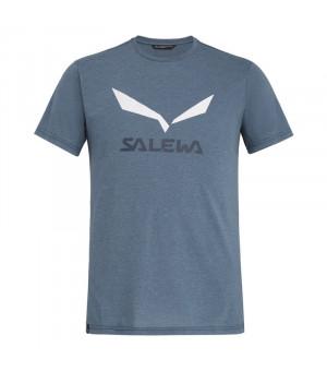 Salewa Solidlogo Drirelease M T-Shirt flint stone melange tričko