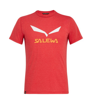 Salewa Solidlogo Drirelease M T-Shirt tango red melange tričko