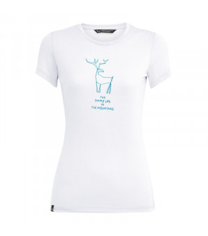 Salewa Deer Drirelease W T-Shirt white tričko