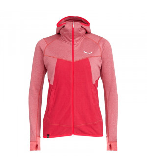 Salewa Puez Hybrid Polarlite Full-Zip W rose red melange mikina