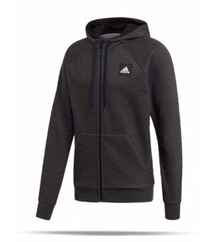 Adidas Must Haves Full Zip Stadium Hoodie Black melange mikina