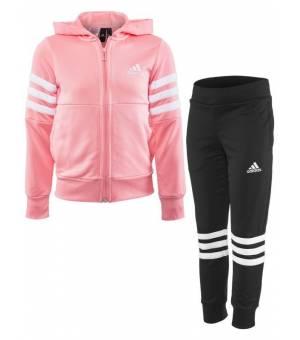 Adidas YG Hood PES TS GLOPNK/WHITE súprava