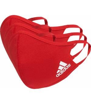 Adidas Face Cover M/L Red rúško 3ks balenie
