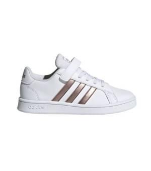 Adidas Grand Court C Jr Cloud White / Copper Met. / Light Granite