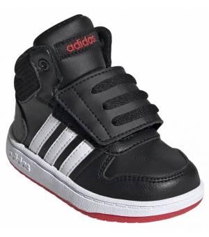 Adidas Hoops 2.0 Mid K JR CBLACK/FTWWHT/VIVRED