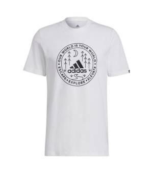 Adidas M CRCL XPLR Tee White tričko