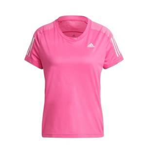 Adidas Own The Run Tee W Screaming Pink tričko
