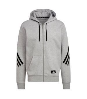 Adidas M FI 3S FZ Medium Grey Heather mikina