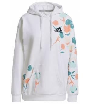 Adidas Floral Hoodie W White mikina