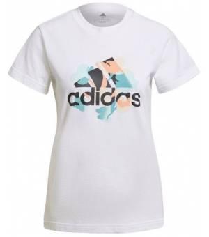 Adidas Floral Gfx Tee W White tričko