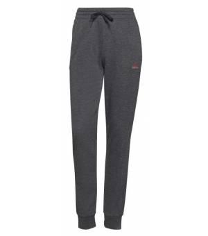 Adidas W Essentials French Terry Logo Dark Grey Heather / Rose Tone tepláky