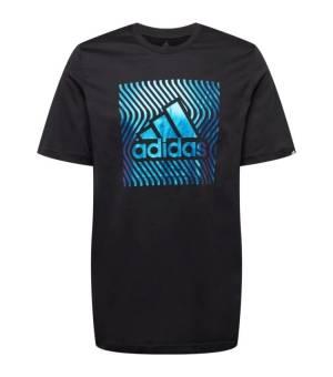 Adidas M CLRSHFT Tee M Black/Boblue tričko