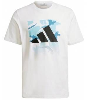 Adidas Camo Bos Tee M White tričko