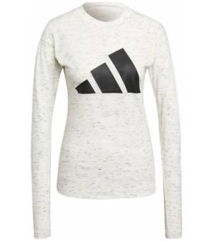 Adidas W Win Tee Ls White Melange tričko s dlhým rukávom