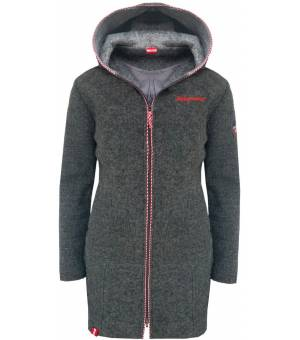 Almgwand Pfeifferalm W Wool Coat MouseGray Kabát