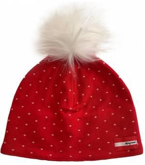 Almgwand Klinglbergalm Beanie W Red / White čiapka
