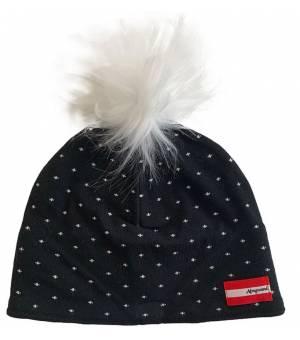 Almgwand Klinglbergalm Beanie W Black / White čiapka