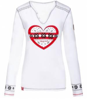Almgwand Greimalm W T-Shirt White tričko s dlhým rukávom