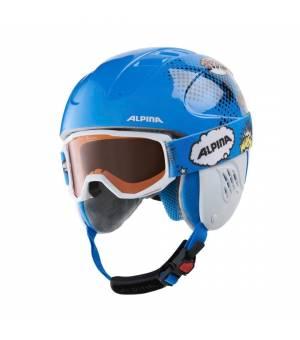 Alpina Carat Piney Disney Set detská lyžiarska prilba s okuliarmi