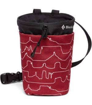 Black Diamond Gym Chalk Bag Vrecko Na Magnézium Červené