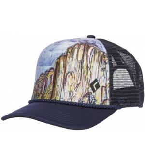 Black Diamond Flat Bill Trucker Hat Šiltovka Modrá