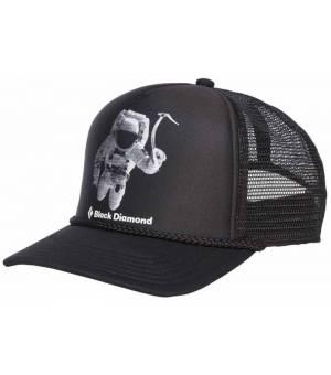 Black Diamond Flat Bill Trucker Hat Šiltovka Čierna
